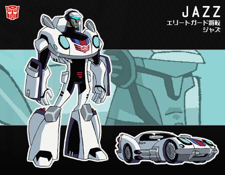 ジャズ オートボット/ジャズ エリートガードの将校。スタイリッシュな気風の持ち主で、さっぱりした